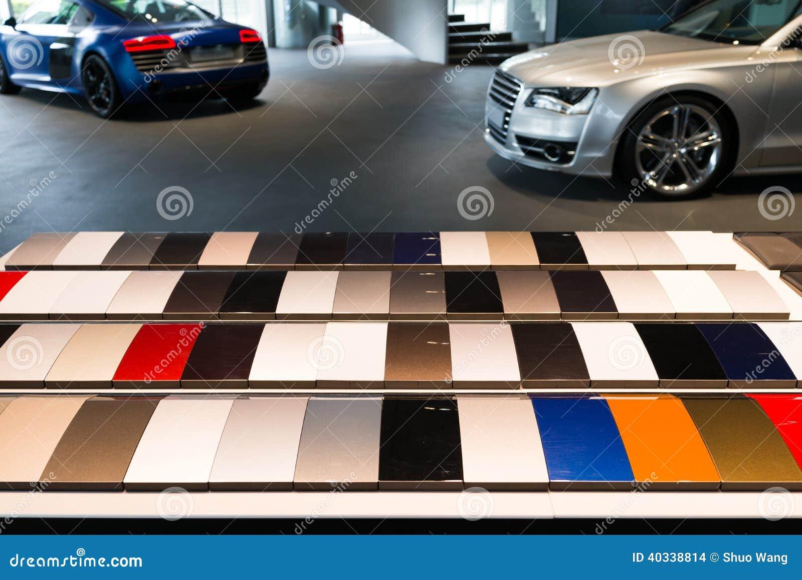 car paint samples stock photo image of golden colourful 40338814. Black Bedroom Furniture Sets. Home Design Ideas