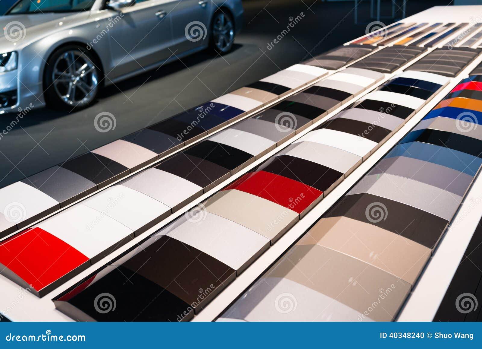 Color charts.
