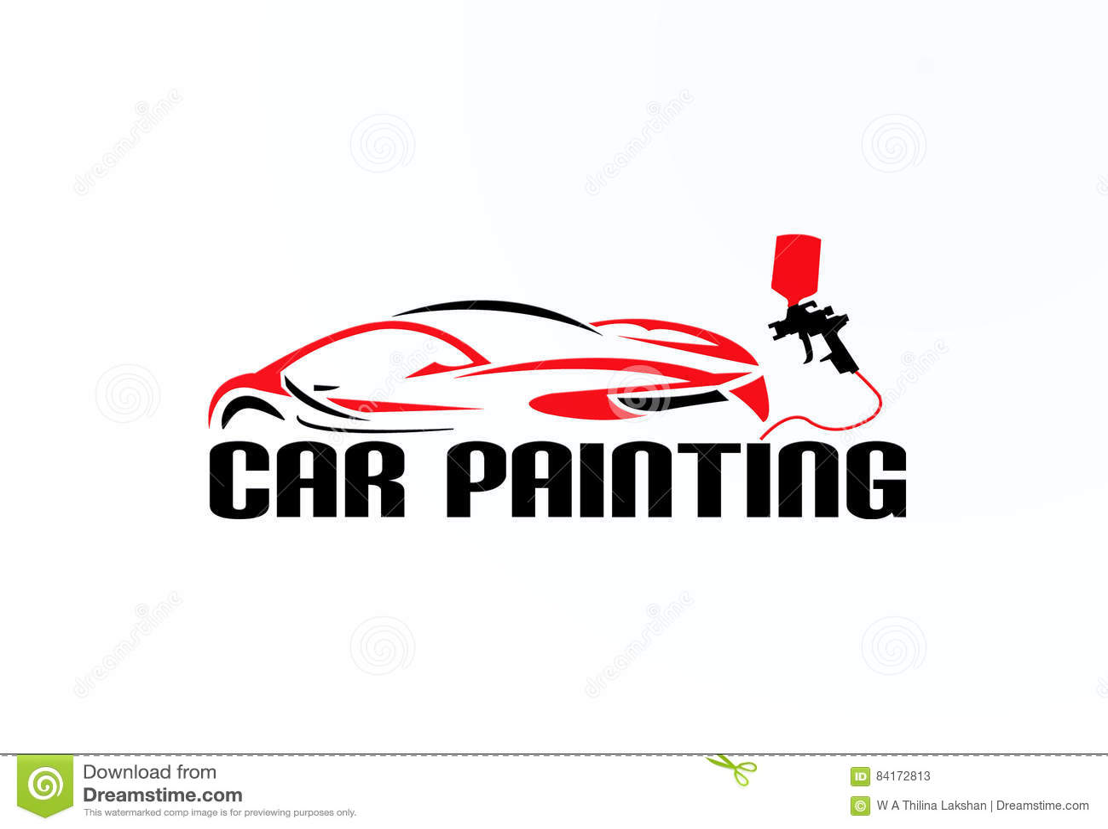 Car Painting Logo Vector Design Stock Vector - Image: 84172813