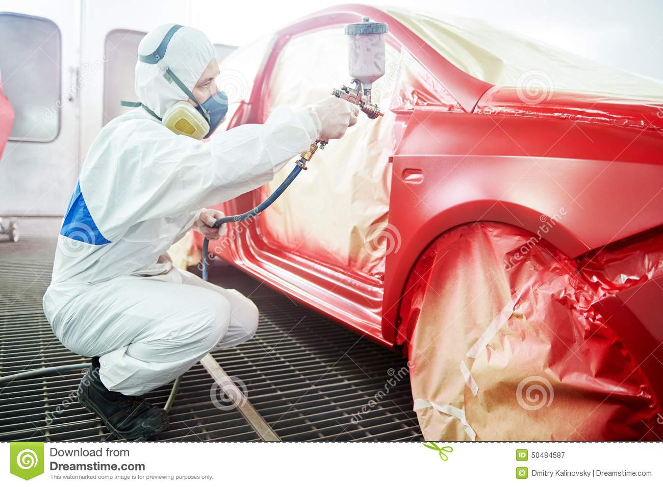 Car painting technology stock image image of painter for Body paint auto