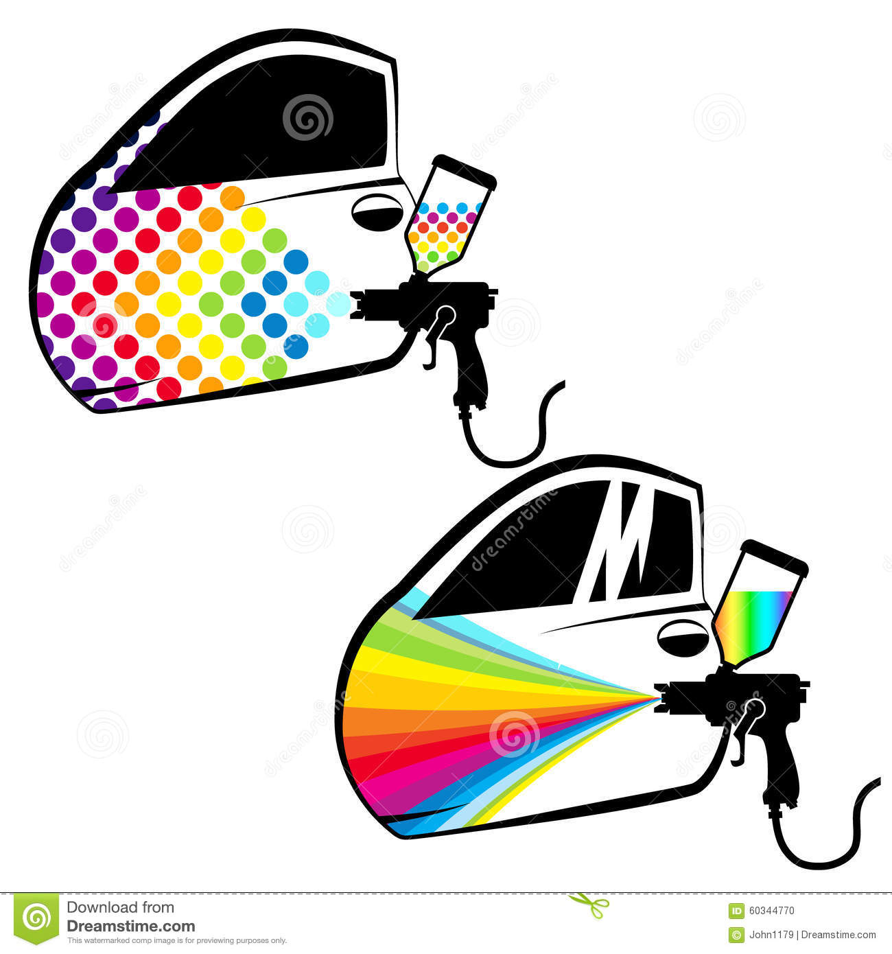 Car Painting Vector Stock Vector. Illustration Of Painting