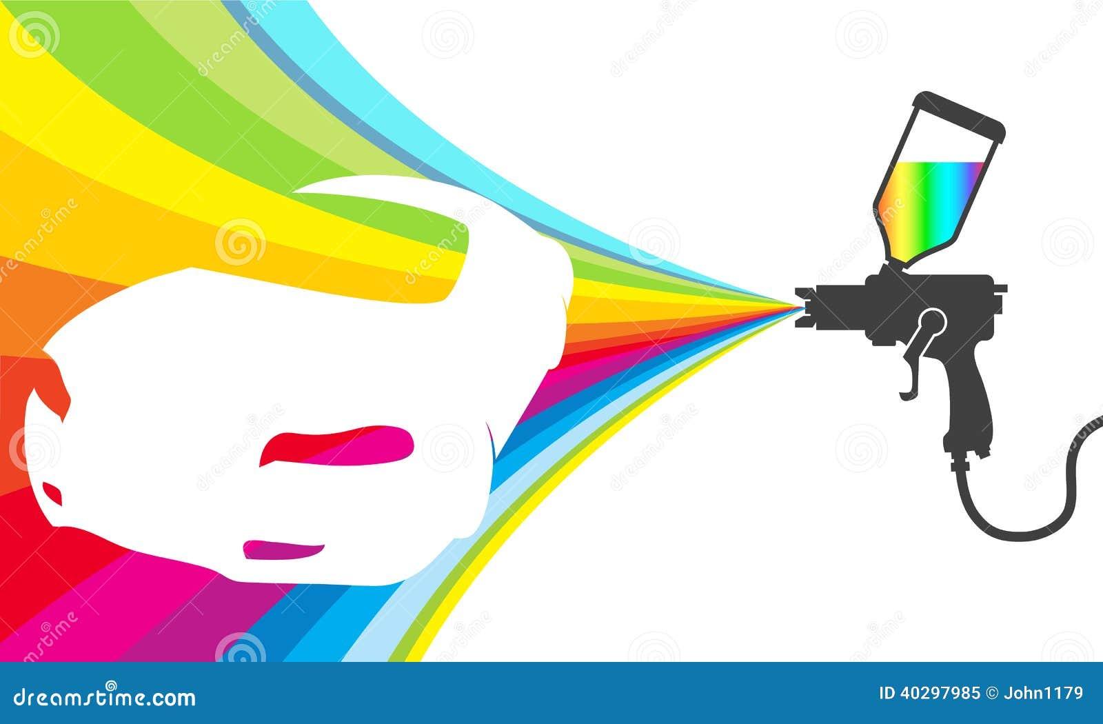 Car Wash Spray Gun Car Painting Vector Stock Vector - Image: 40297985