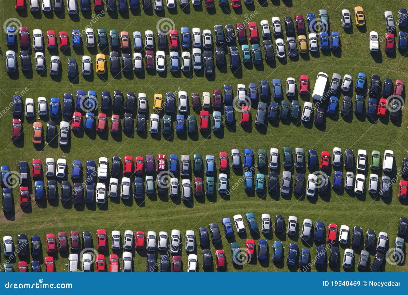 car park rows stock image image of wave colours carpark 19540469. Black Bedroom Furniture Sets. Home Design Ideas