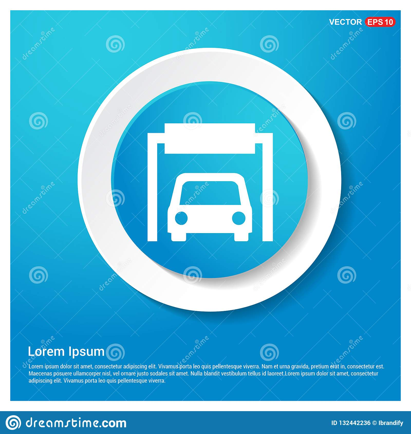 Car Parking Icon Stock Vector Illustration Of Motor 132442236