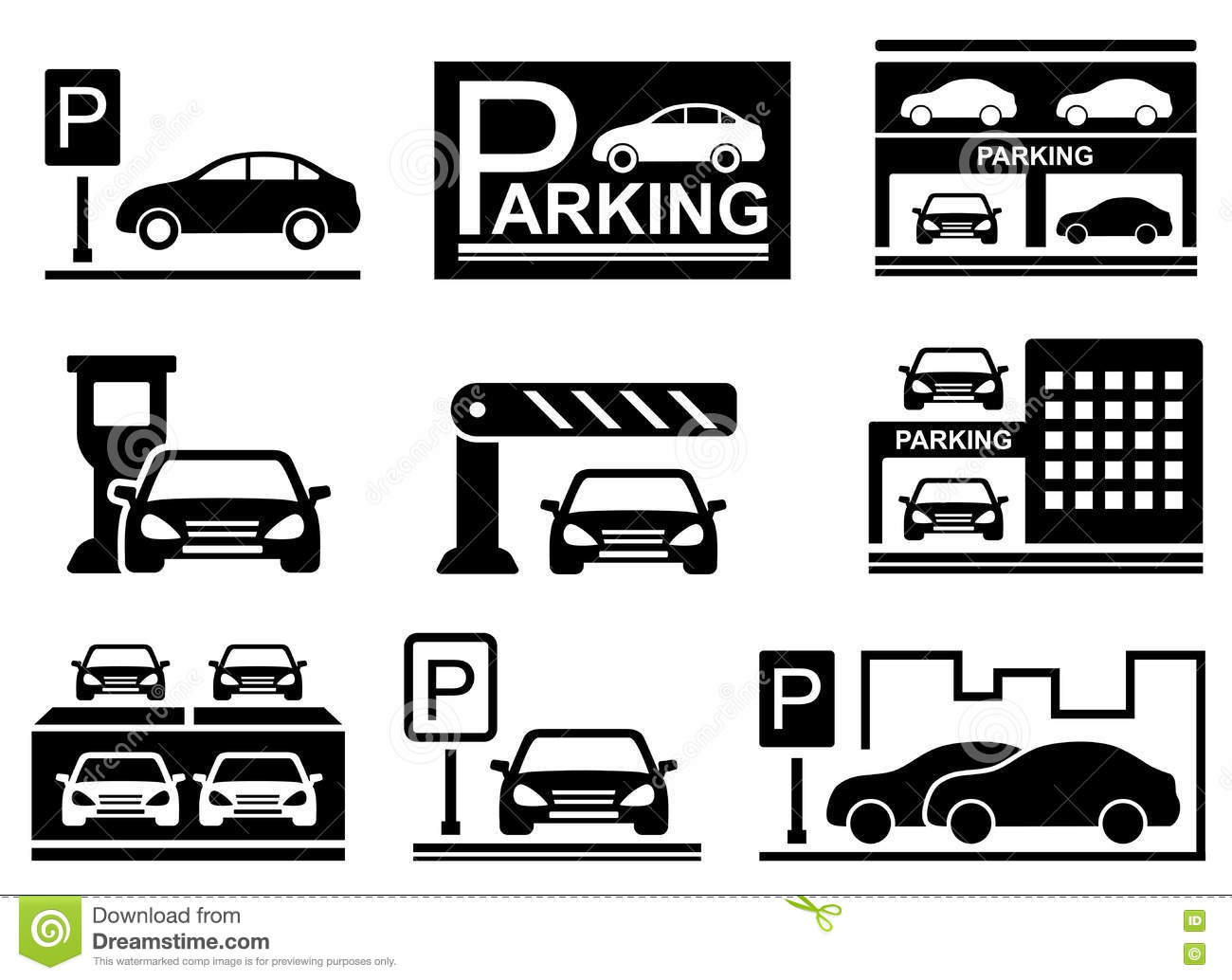 Car on parking icons stock vector illustration of city 75339492 car on parking icons buycottarizona