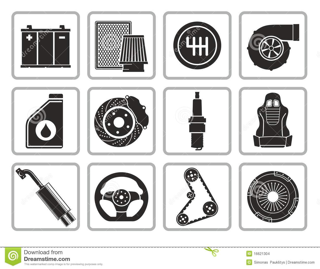 Car Parts Stock Images Image 16621304