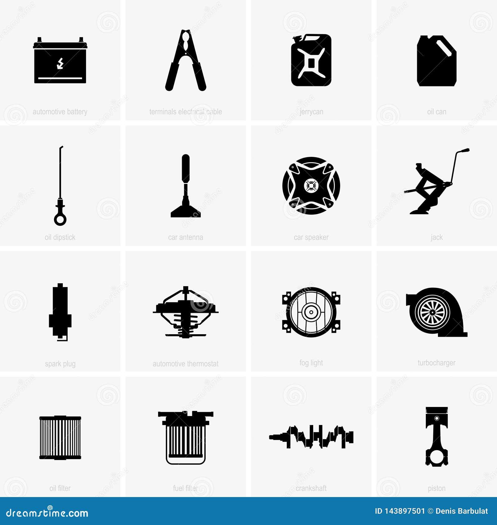 Car parts stock vector  Illustration of icon, automotive