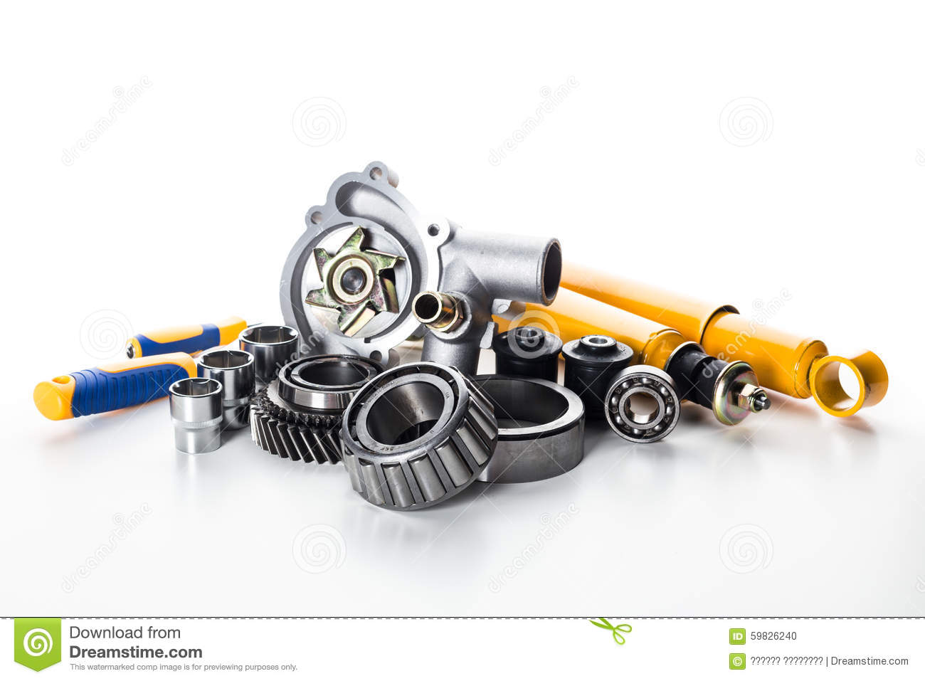 Car parts isolated stock photo. Image of section, white - 59826240