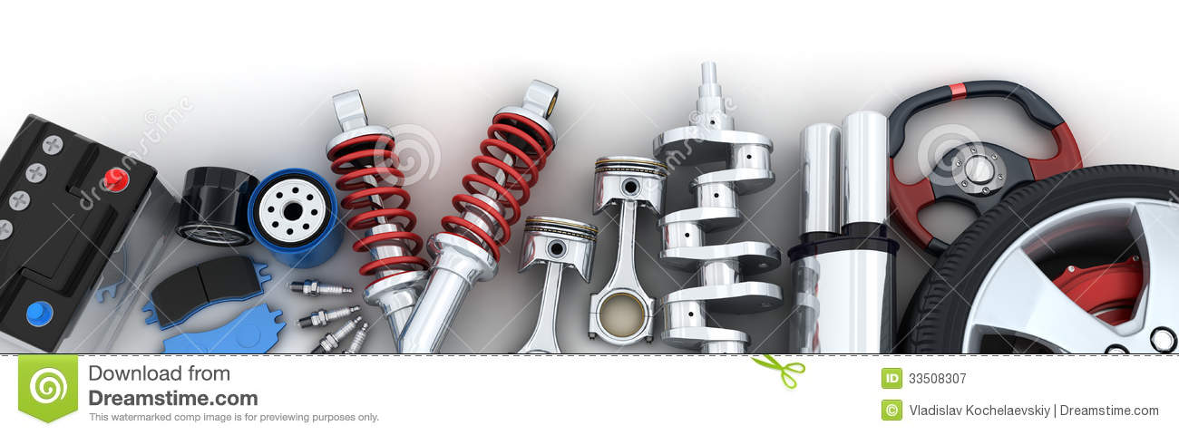 Car Auto Parts: Car Parts Stock Illustration. Image Of Brake, Battery