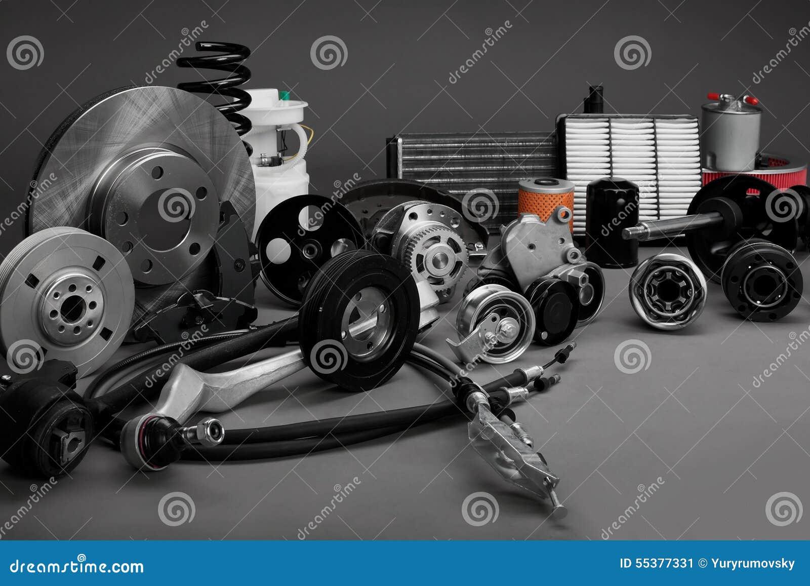 New Car Parts : Car parts stock photo image