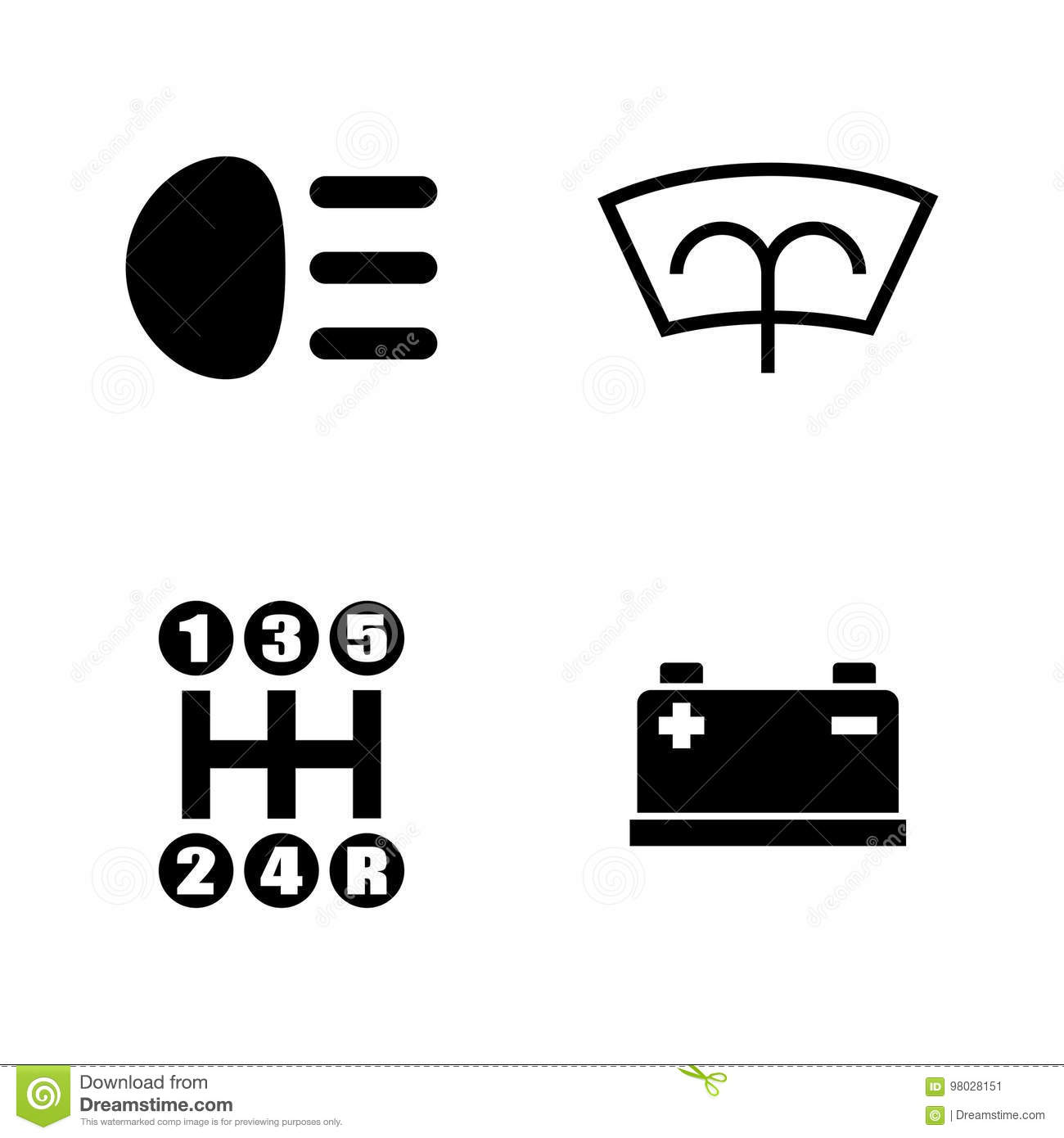 Car Parts. Simple Related Vector Icons Stock Vector - Illustration ...