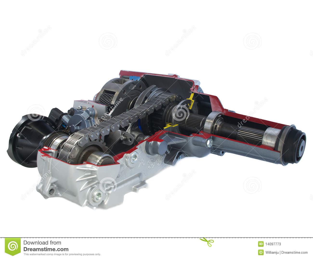 Car Parts Transfer Case Electric Shift Stock Photos Image