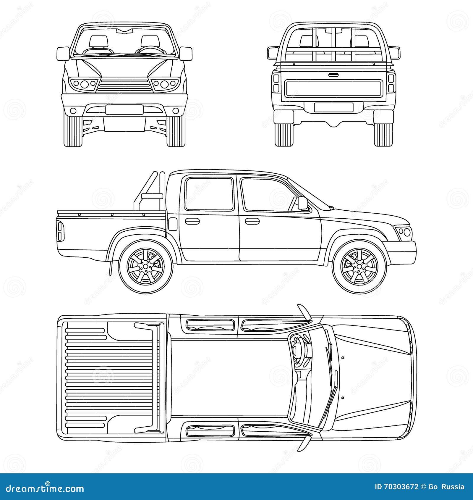 Car pickup truck vector illustration stock vector illustration of royalty free vector malvernweather Gallery
