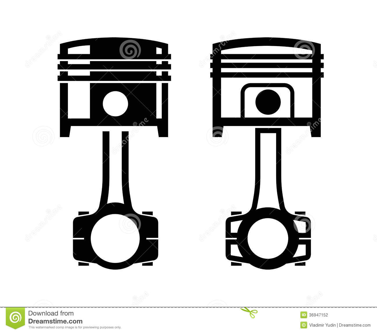 Car Piston Icon Stock Photography - Image: 36947152