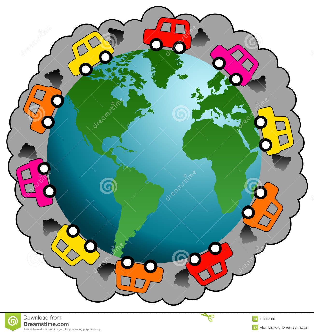 Car Pollution Royalty Free Stock Photos - Image: 18772388