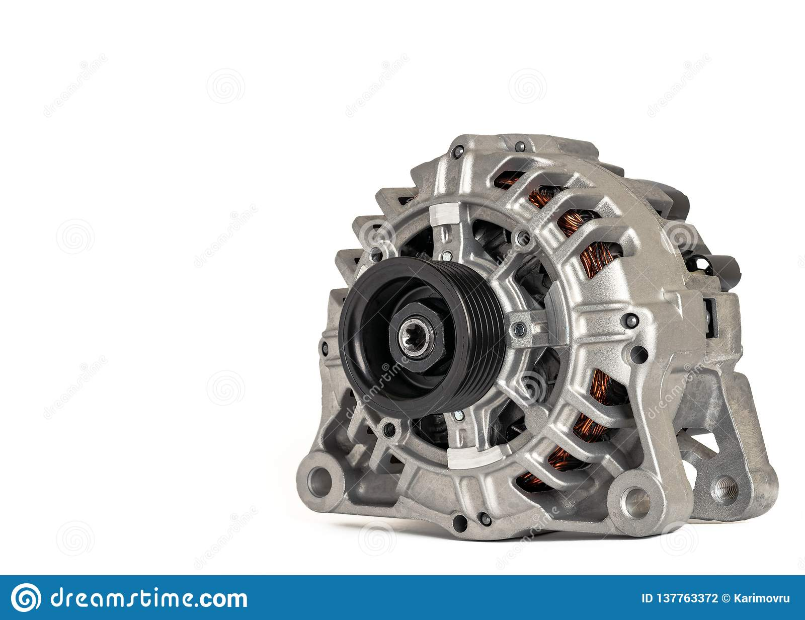 Car generator on a white background