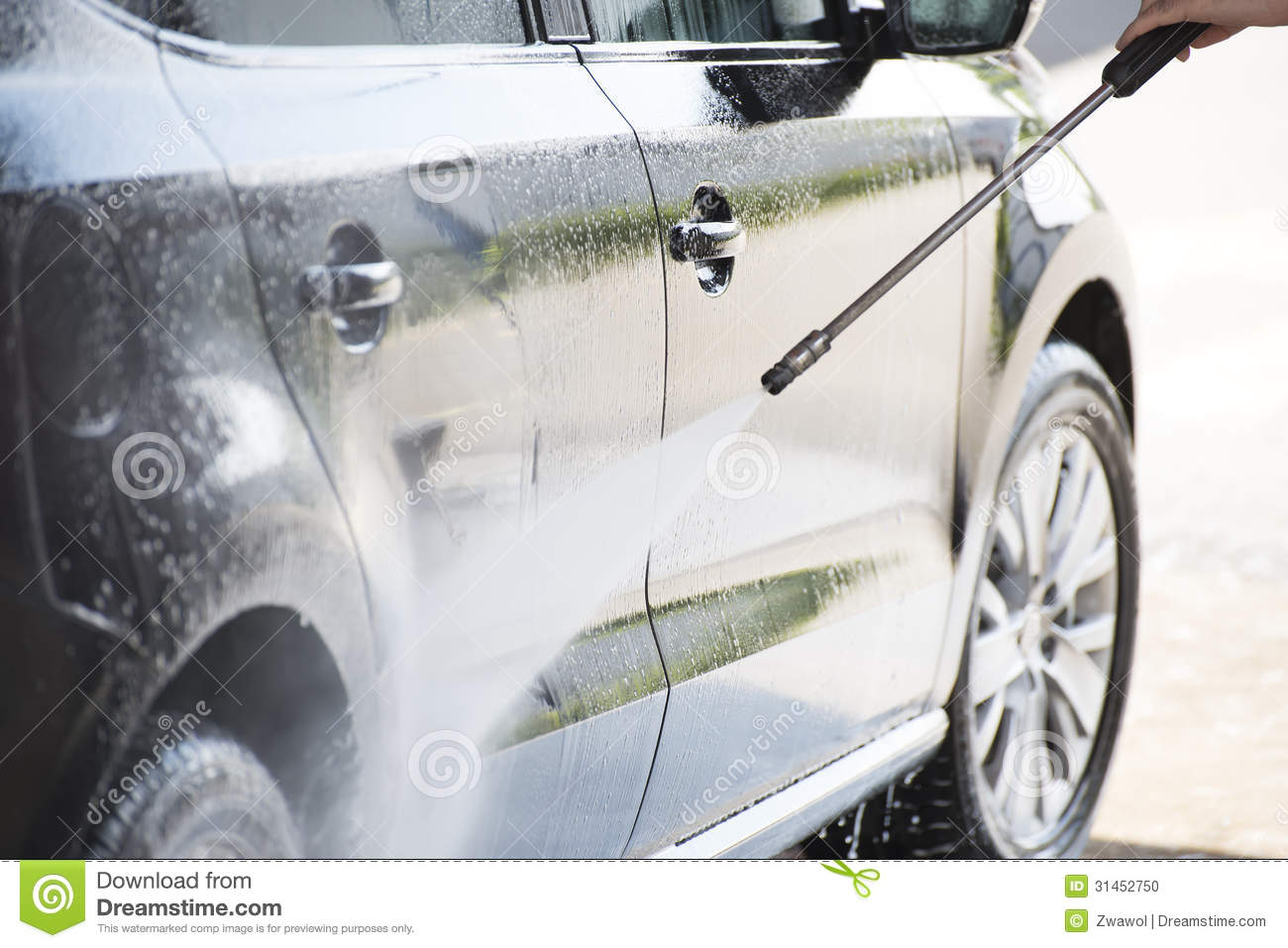 Car And Pressure Washer Stock Photo Image 31452750