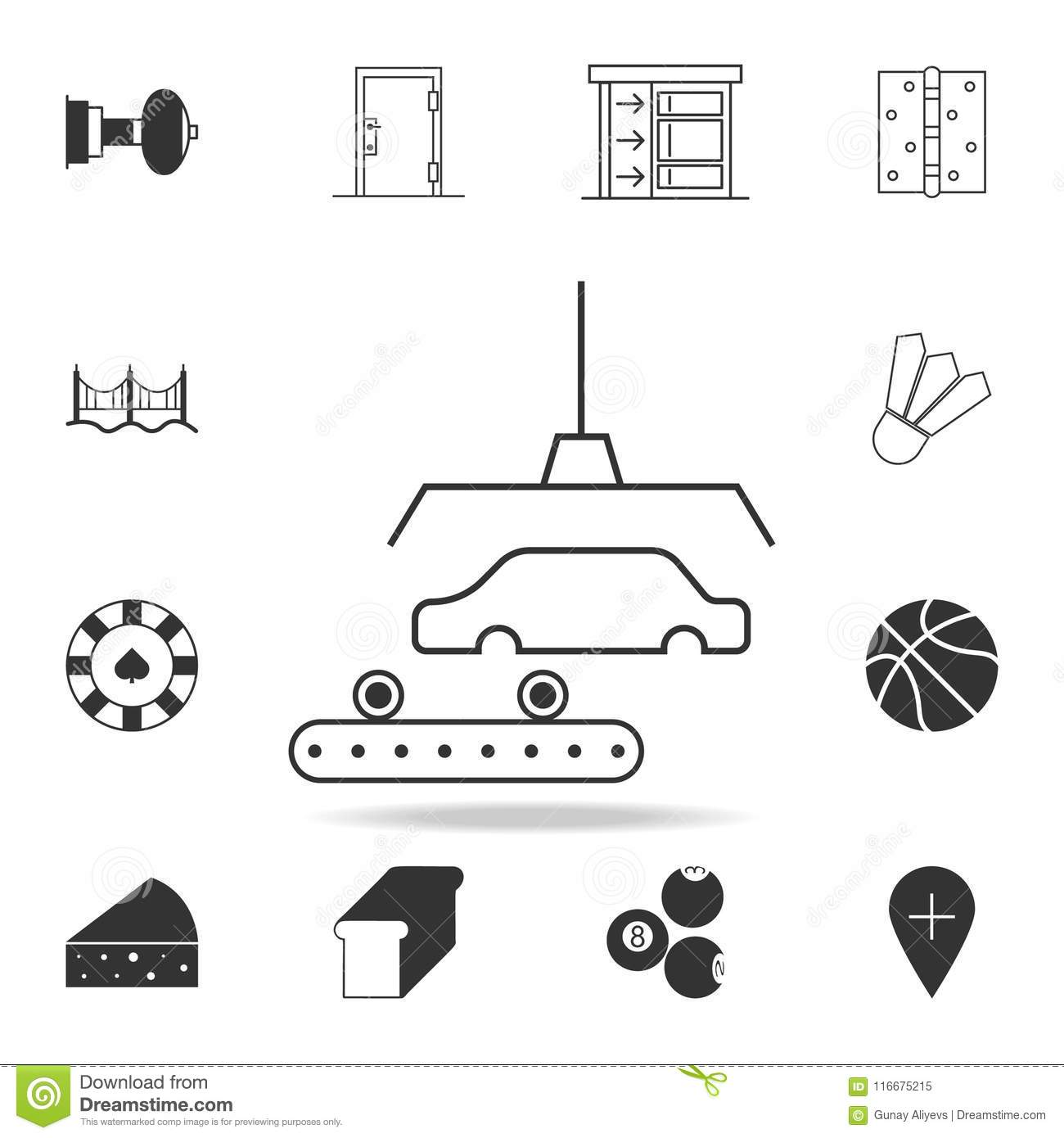 Car Production Icon Detailed Set Of Web Icons And Signs Premium