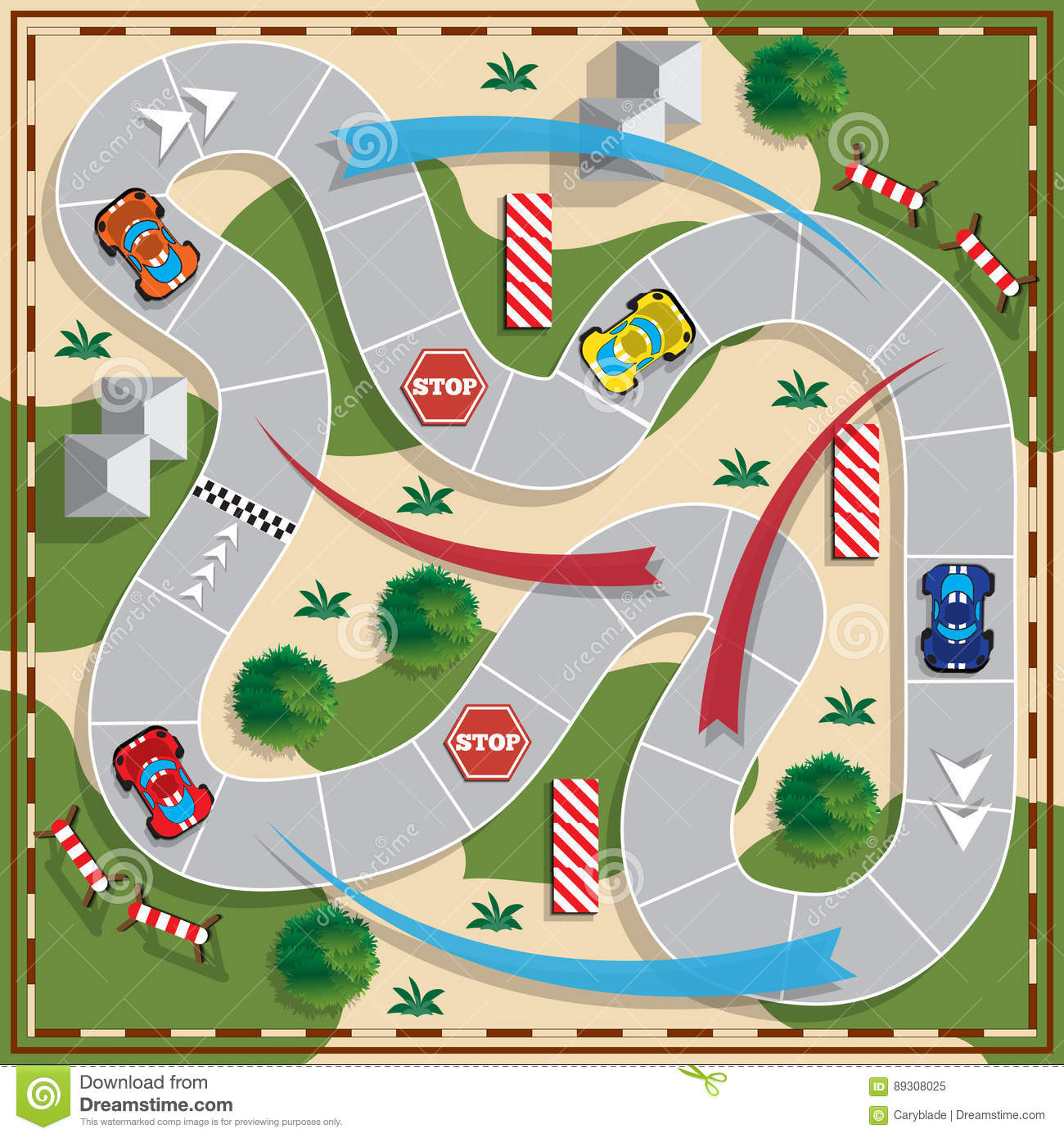 Race Car Board Game Template