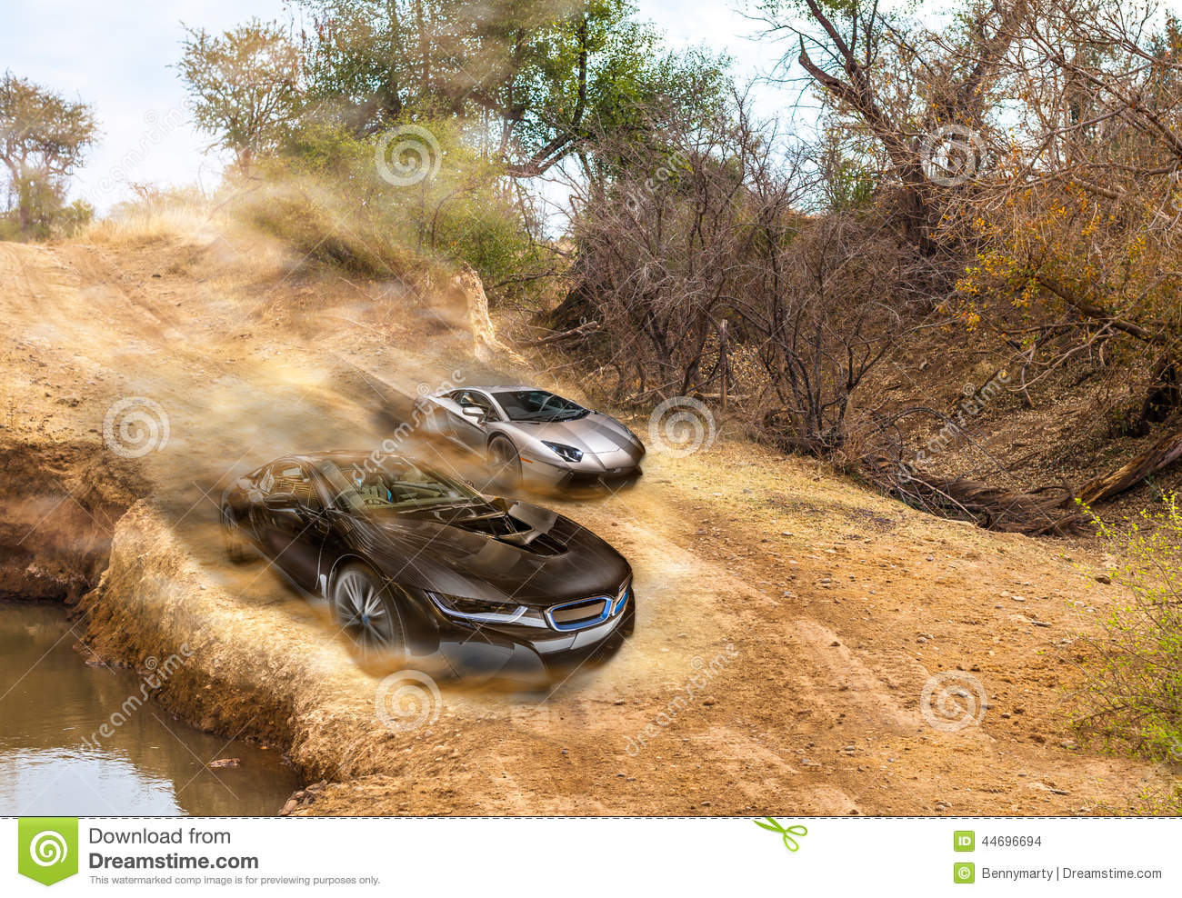 Car Race Stock Photo Image Of Rally Lamborghini Competition