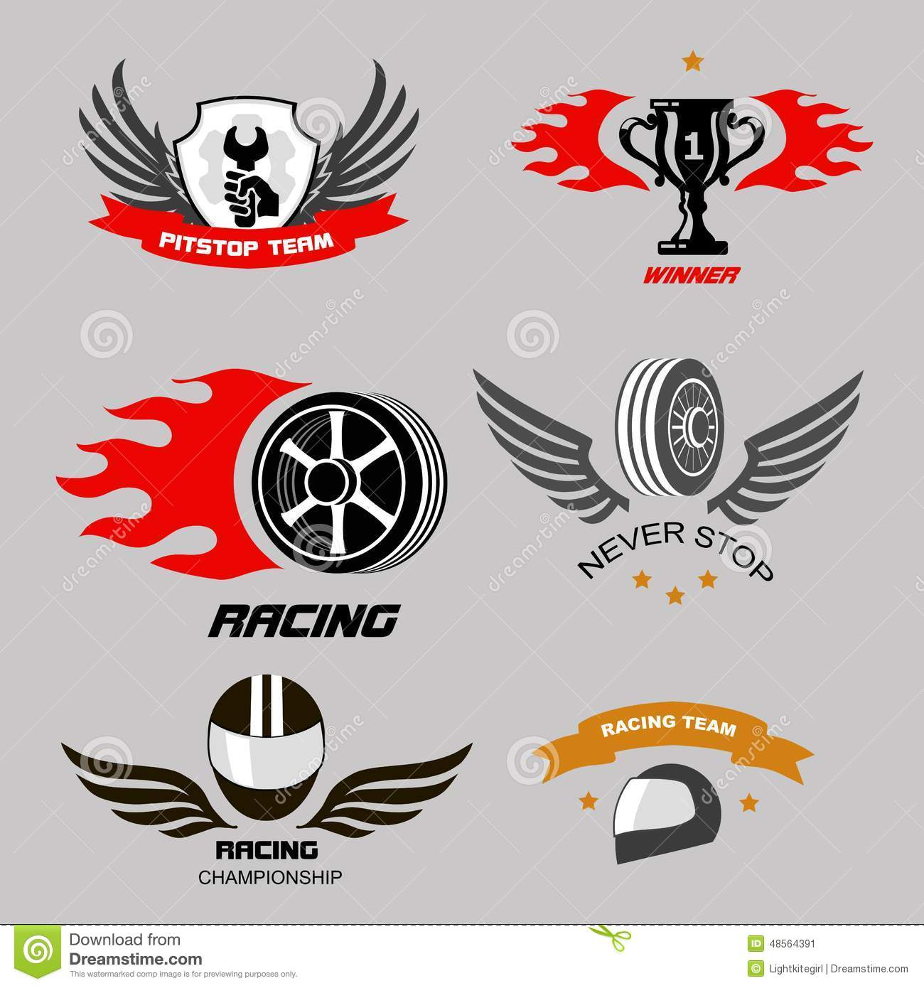 Car Racing Badges And Motorcycle Service, Stock Vector - Image ...