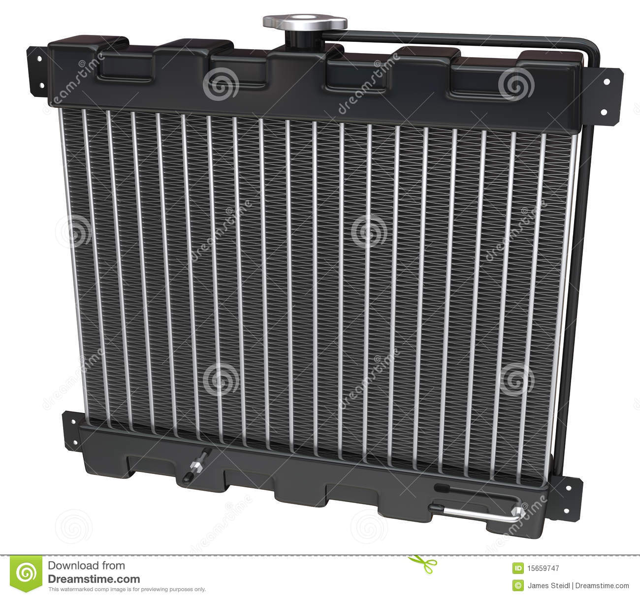 Car Radiator On White Royalty Free Stock Photography