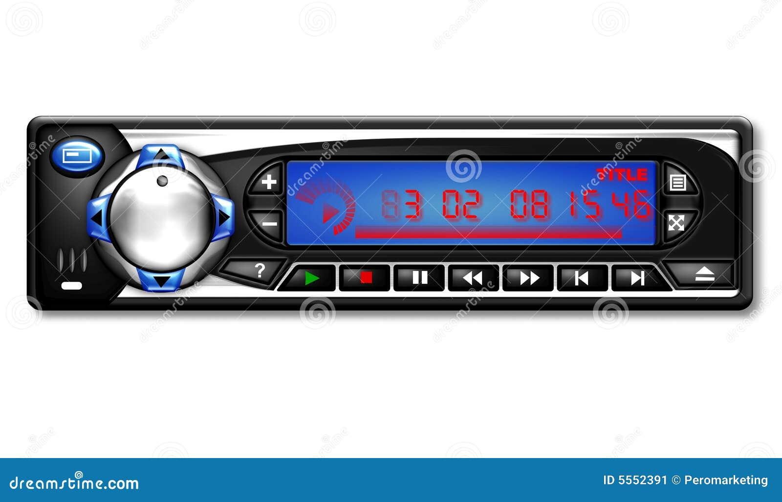 Car radio illustration