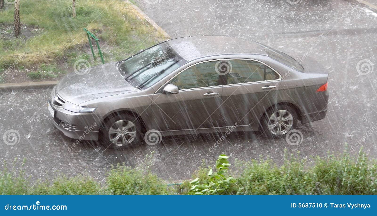 Car Rain hail