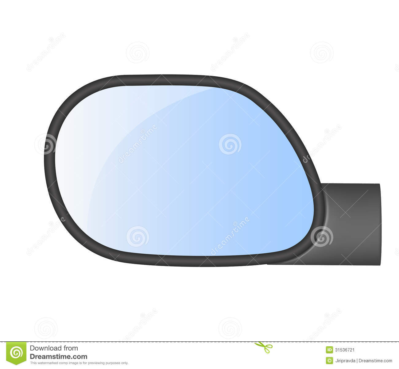 Car Rear View Mirror Stock Vector Image Of Speed Space
