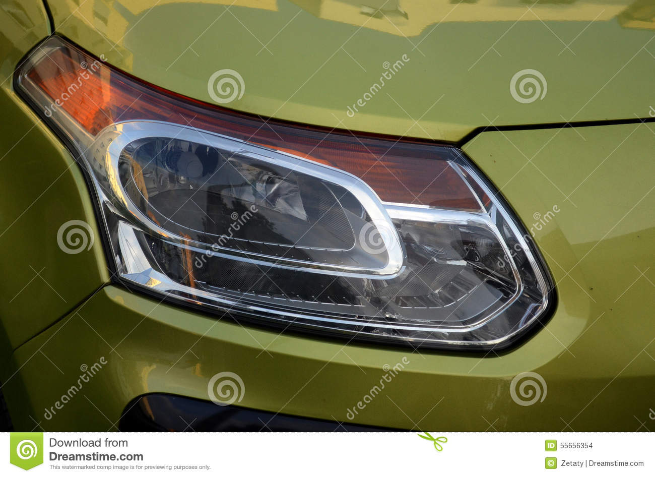 Car Reflector Headlamp Stock Photo Image Of Chrome Concept 55656354