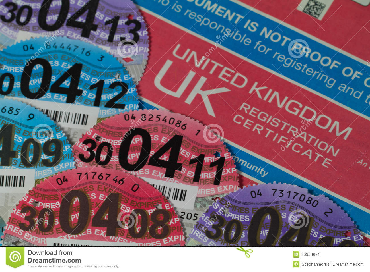 Old Car Tax Discs