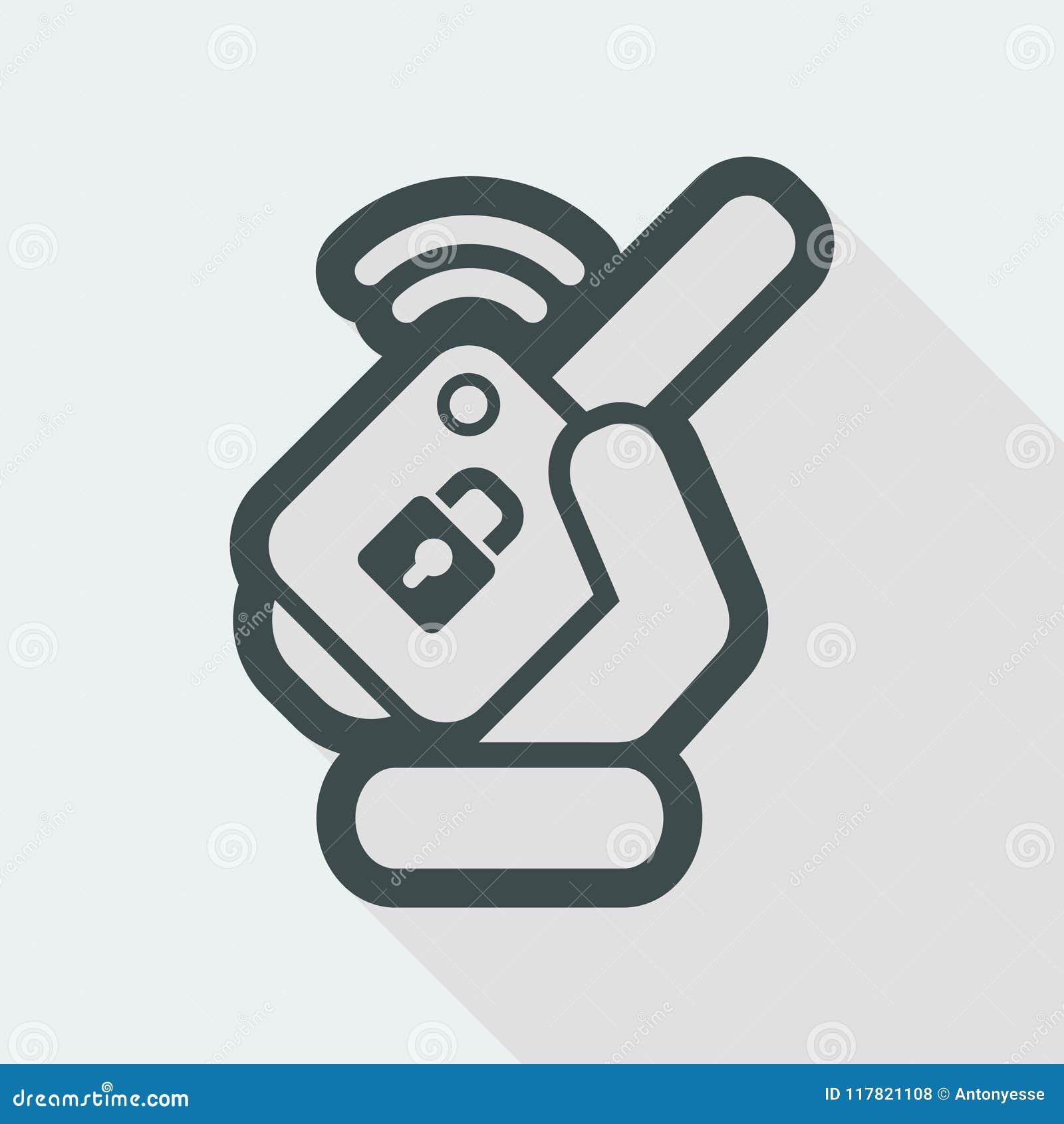 Car remote key stock vector  Illustration of black, lock