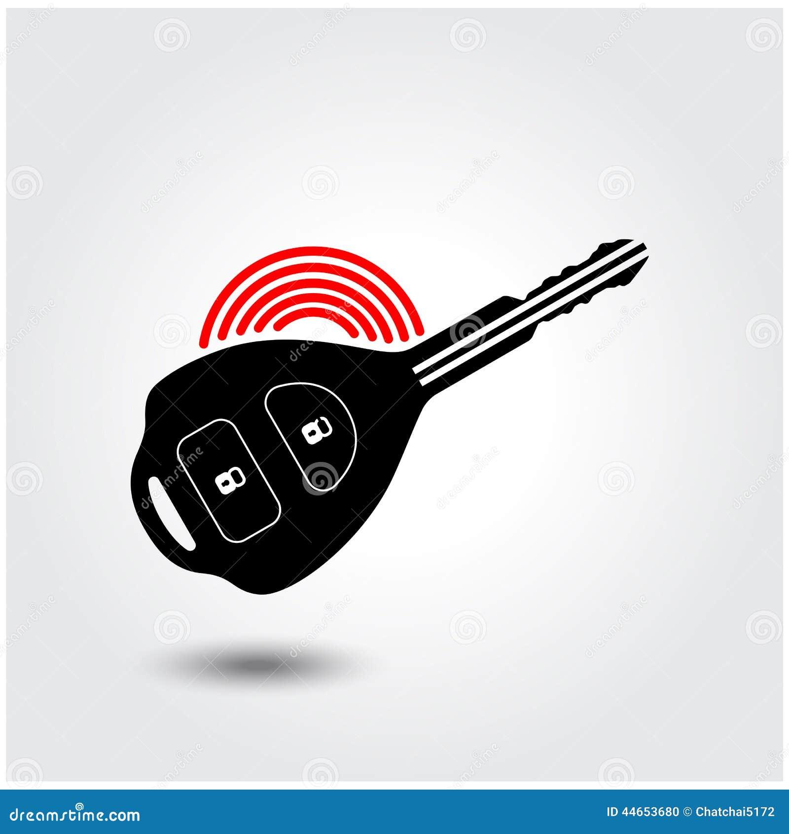 Vector Key Illustration: Car Remote Key Symbol Stock Vector. Illustration Of