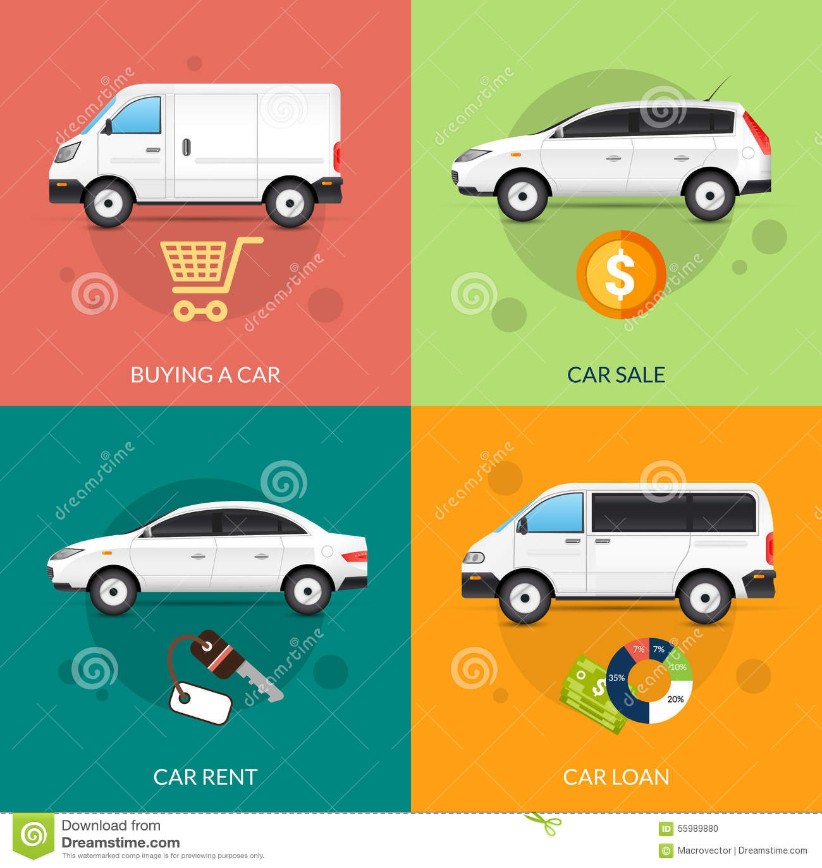 car for rent and sale stock vector image 55989880. Black Bedroom Furniture Sets. Home Design Ideas