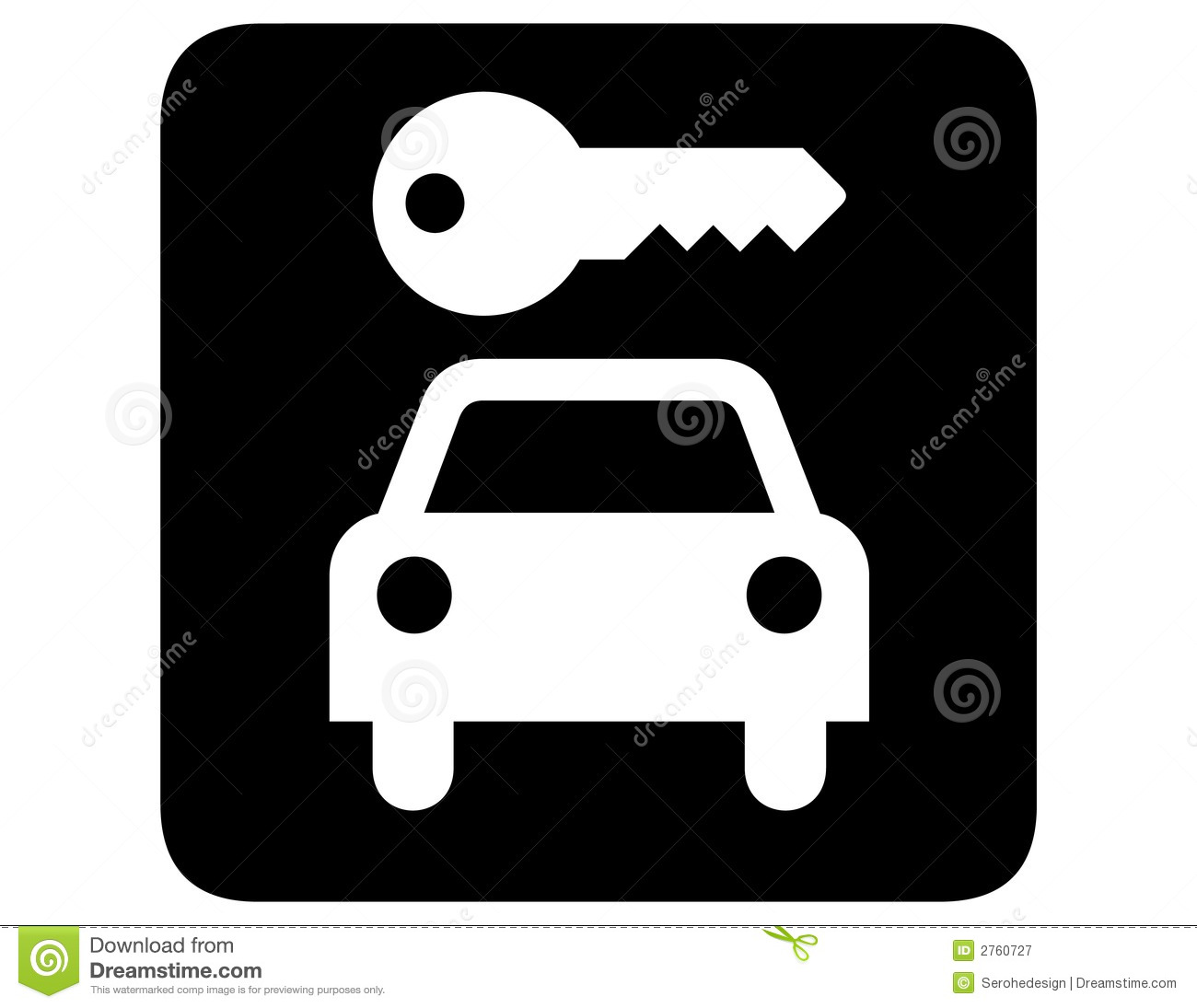 The World S Best Photos Of Car And Rent: Car Rental Inverted Royalty Free Stock Photography