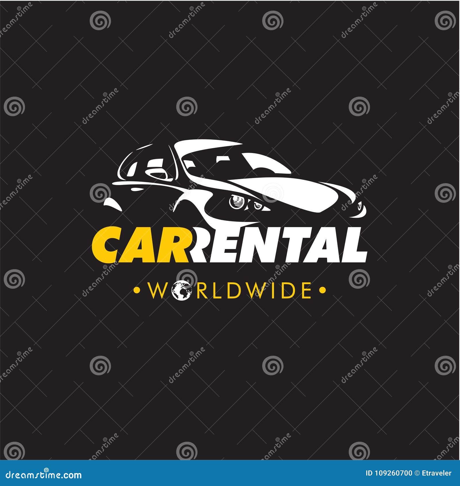 Car Rental Logo Rent A Car Stock Vector Illustration Of Sale Automotive 109260700