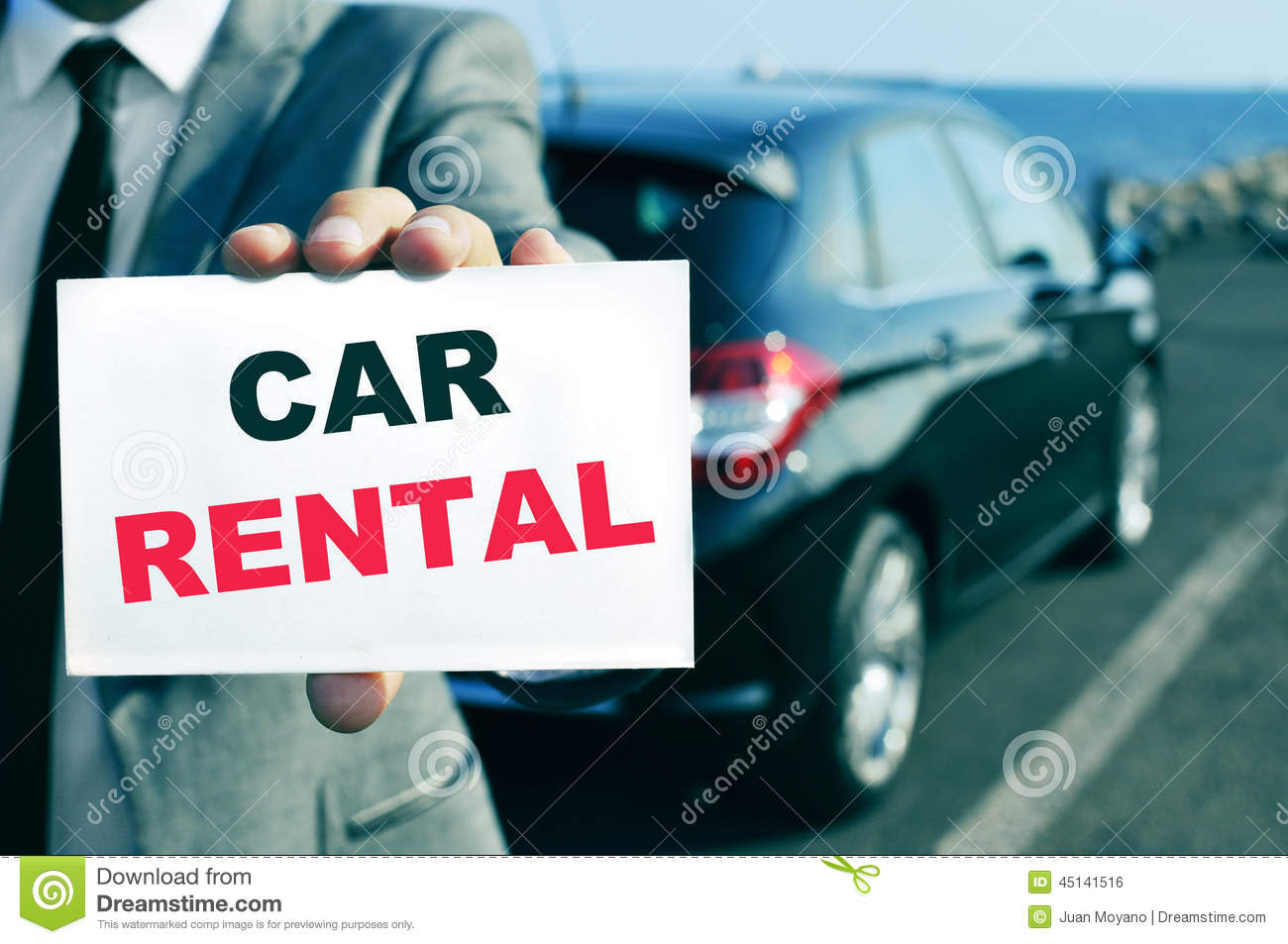 Car Rental Stock Photo Image Of Luxury Card Agent 45141516