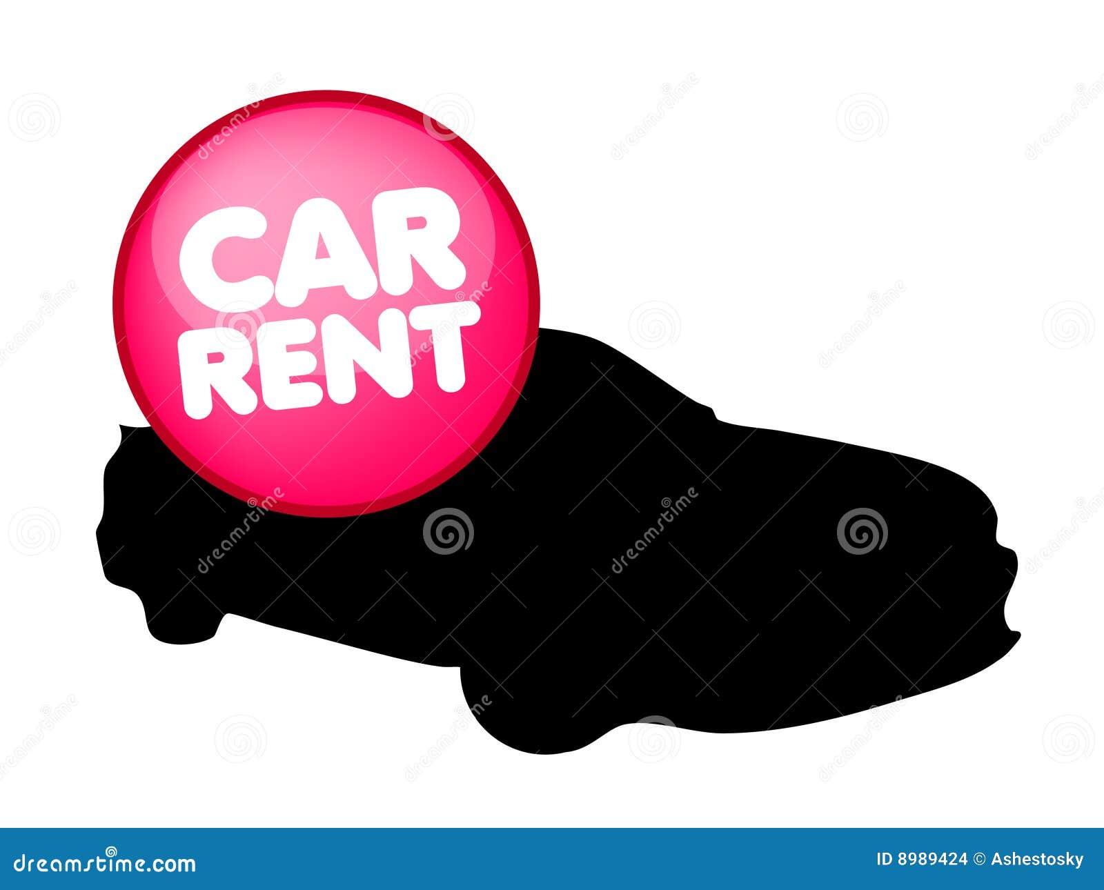 Rent Logo Car rental vector logo Stock