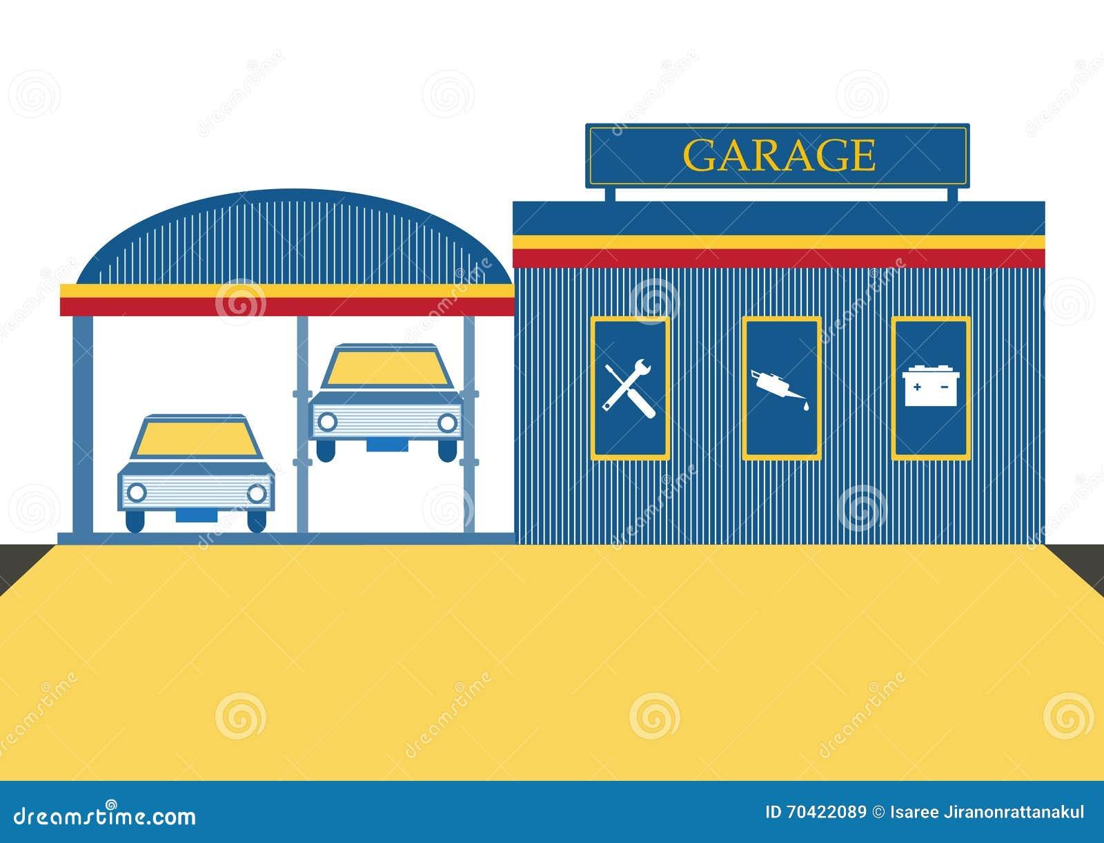Car repair garage and auto service center vector for Garage fix auto nimes
