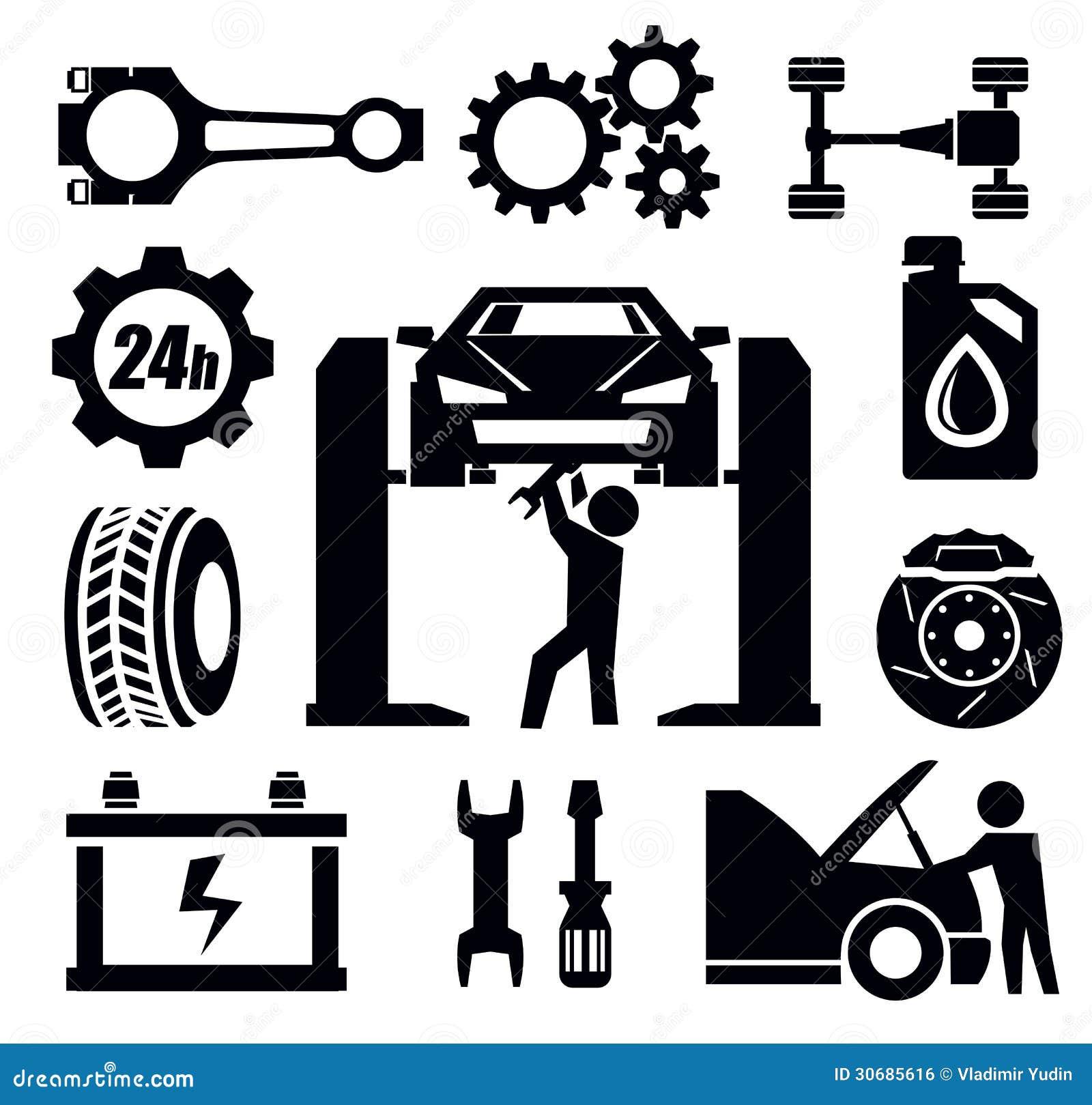 Car Repair Icon Illustration 30685616 Megapixl