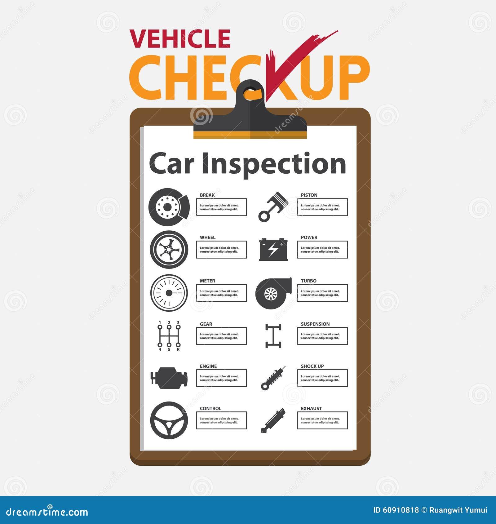 Auto Maintenance Checklist >> Car Repair Infographic In Flat Design. Checkup Clipboard. Stock Vector - Image: 60910818