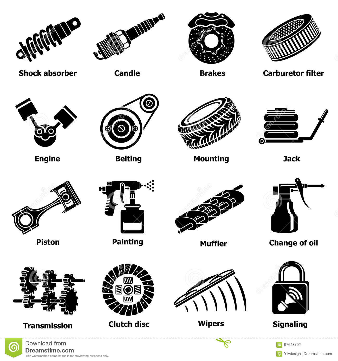 Belting cartoons illustrations vector stock images 24 for Simple car parts