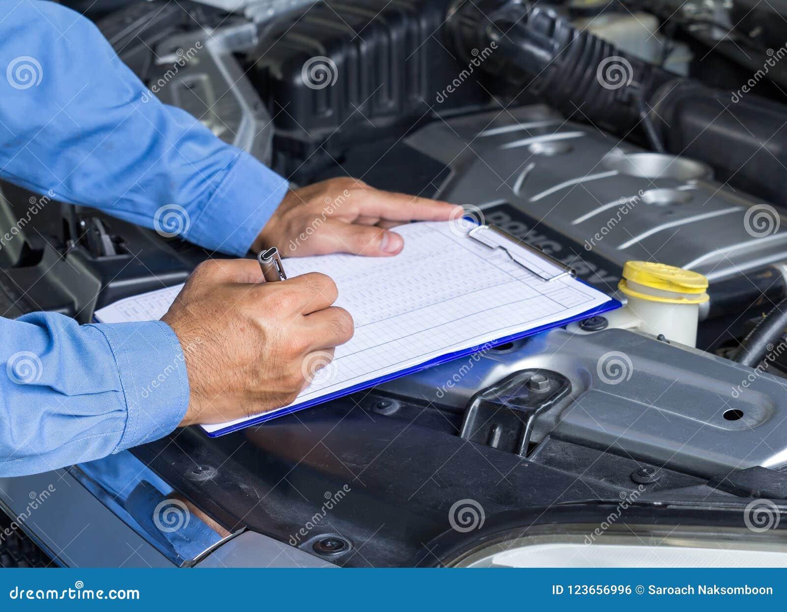 Car repair service, Auto mechanic checking car engine