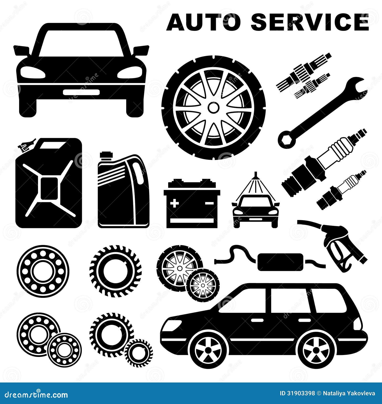 Car Repair Service Icon Stock Vector Illustration Of Simplicity
