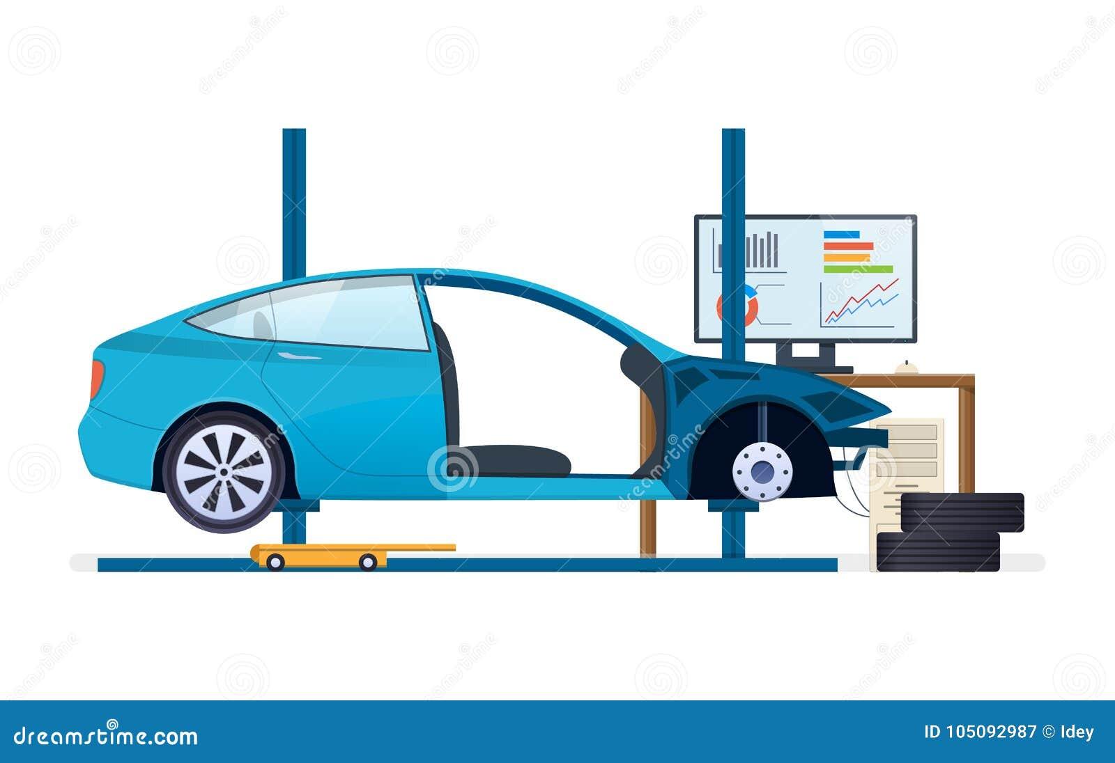 Car Repair Car Service Replacement Of Tires Wheels Car Parts