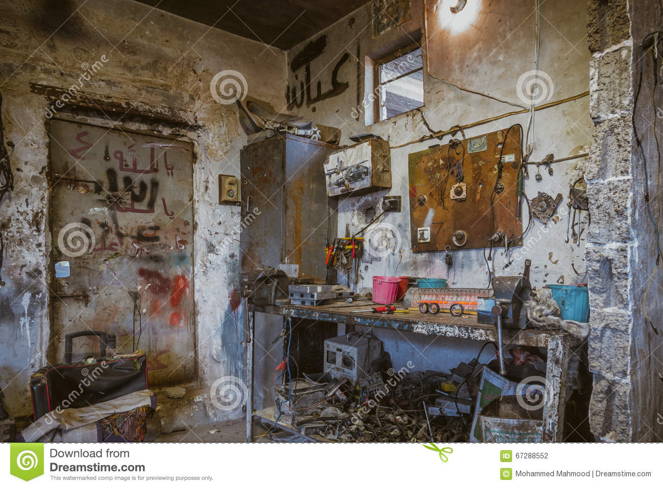 Car Repair Shop In Iraq Shop In Iraq Editorial Photography - Image ...