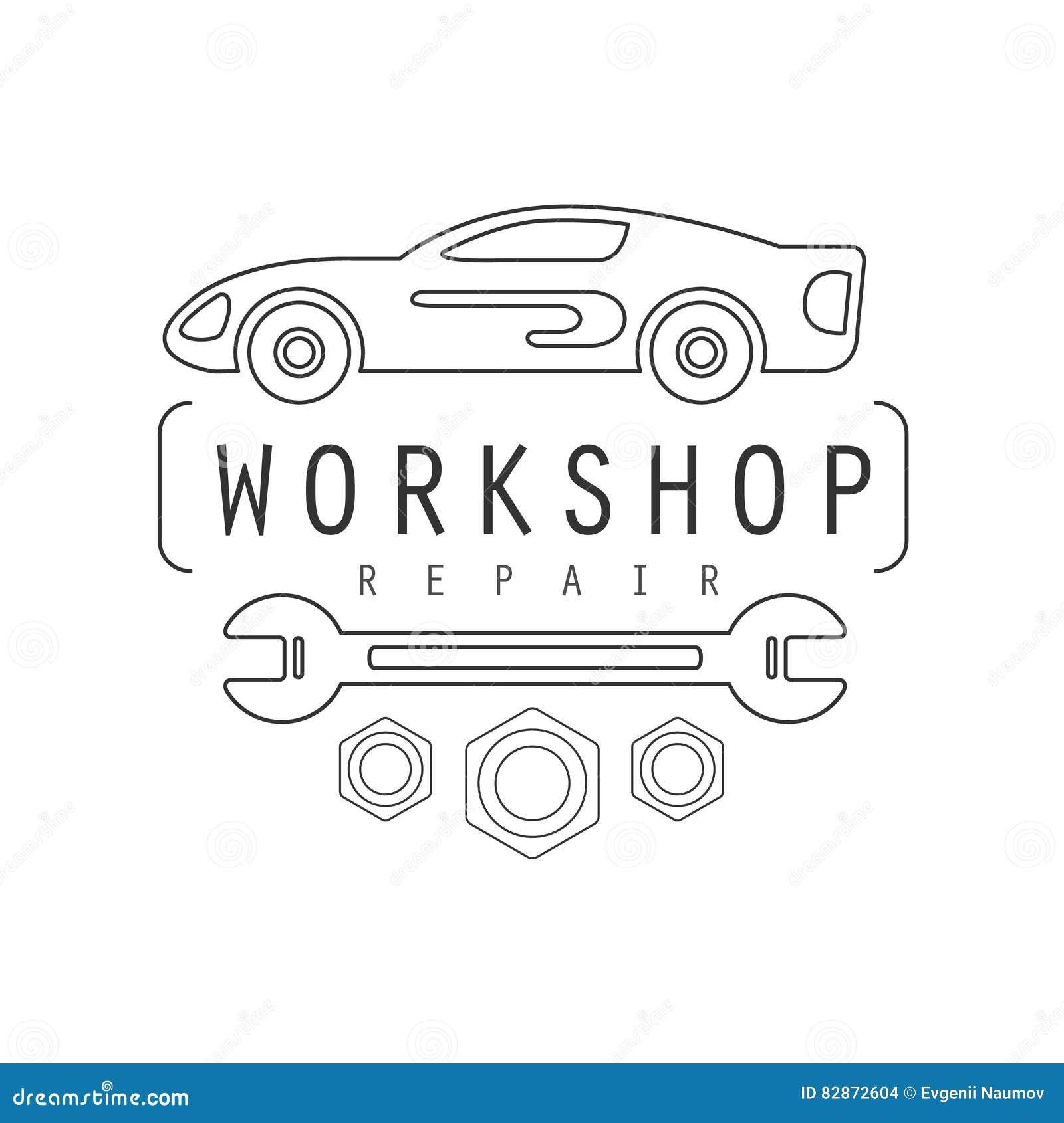 Design car repair workshop - Auto Car Design Emblem Label Mechanic