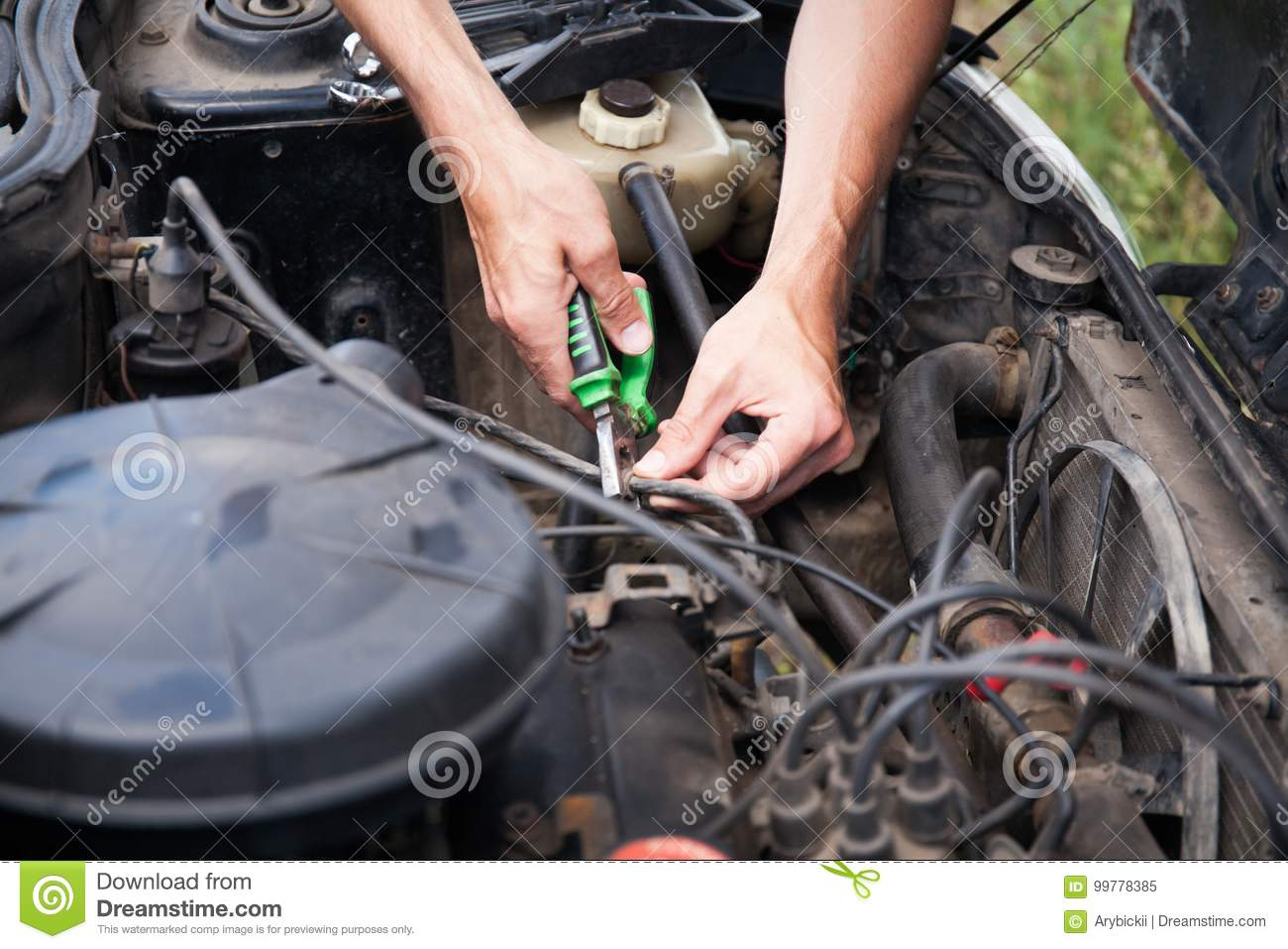 Car Repair Yourself Stock Image Of Care Power 99778385 Auto Electrical Wiring