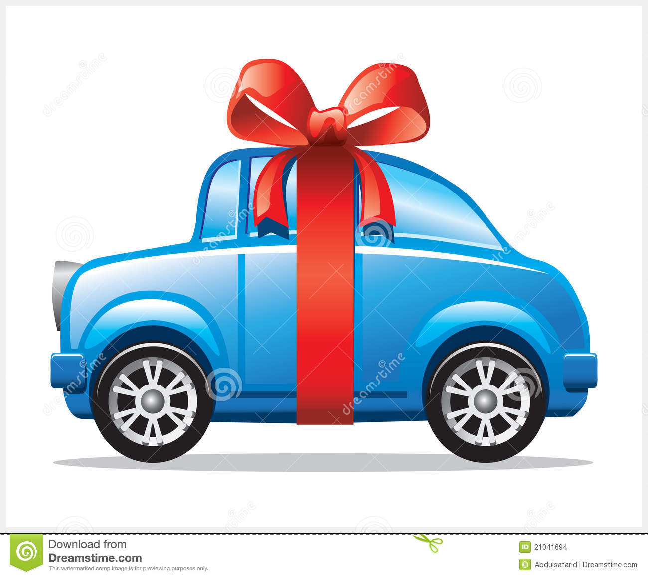 Car With Ribbon Stock Images