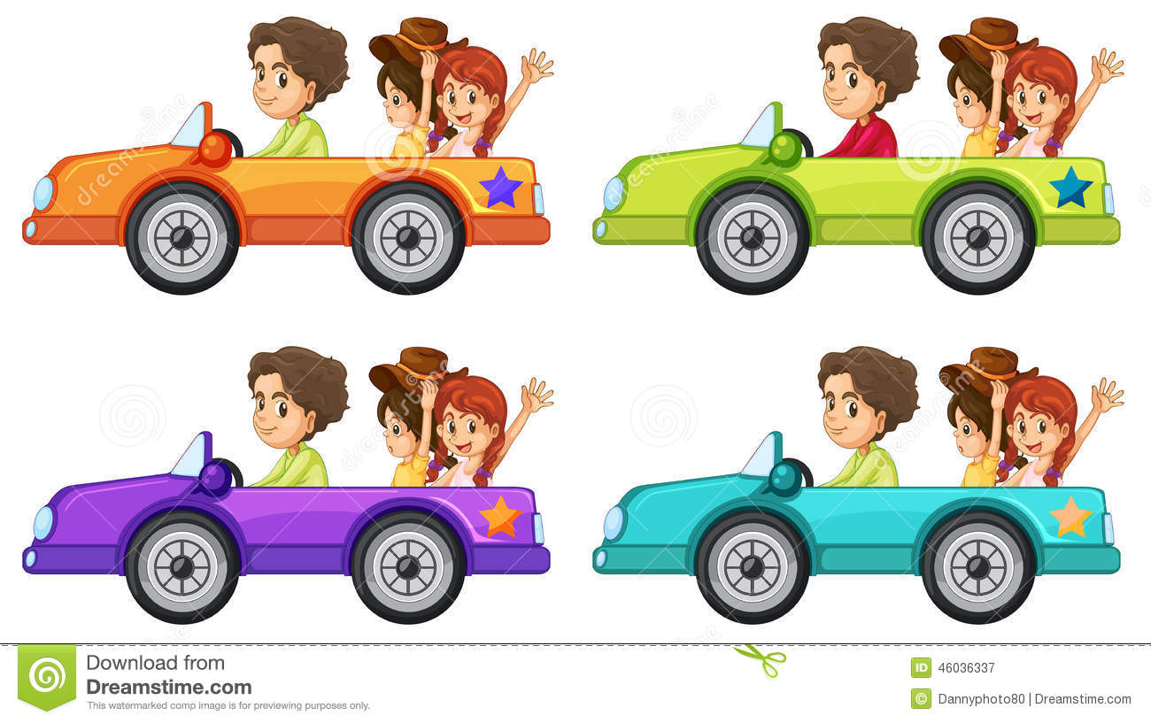 Car Ride Stock Vector Image 46036337